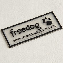 customized silicone transparent embossed printed logo rubber clothing labels