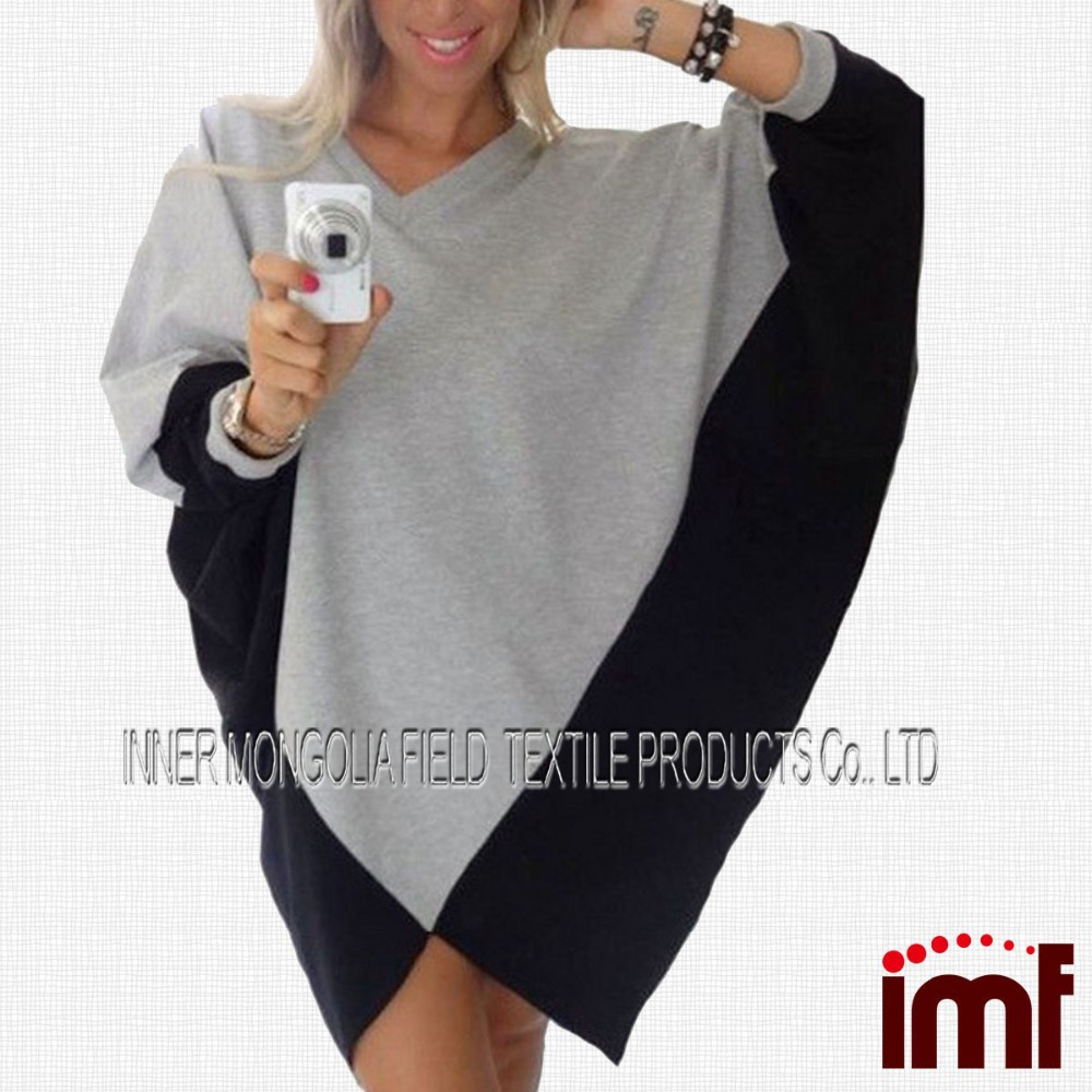 Casual Blocking Poncho Dress For Women