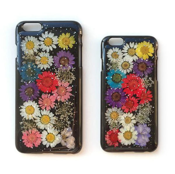 2016 newest mobile phone cover real flower phone case for iphone 6 6 plus hard plastic cases