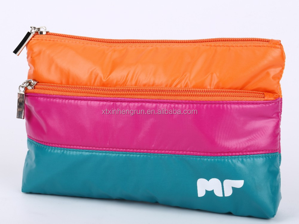 2016 Hot Sales Polyester Woman Cosmetic Bag with Ziplock