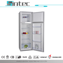 Hot sale best quality silver gray home double door ( fridge ) refrigerator