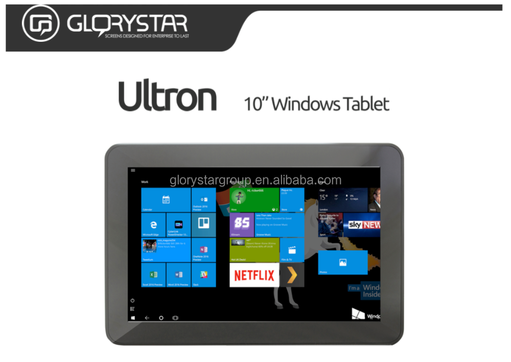10.1 Inch Windows10 3G Tablet pc, Intel Quad core window tablet,2GB 32GB Windows10 Tablet