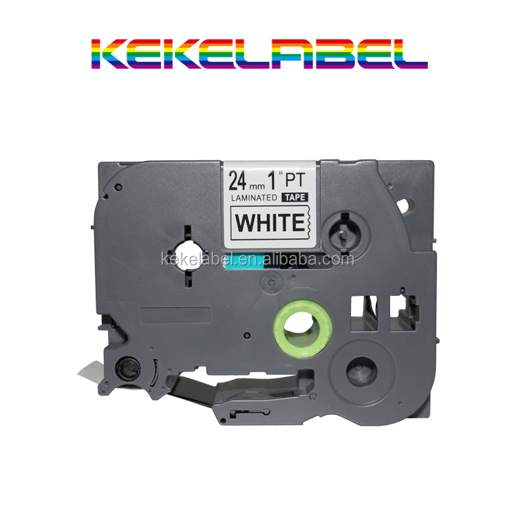 18mm White on Clear TZ145 TZe145 TZe 145 TZe-145 Label Tapes Compatible for P-touch Typewriter