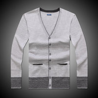 latest design autumn &winter men's white wool cardigan sweater ,knitwear