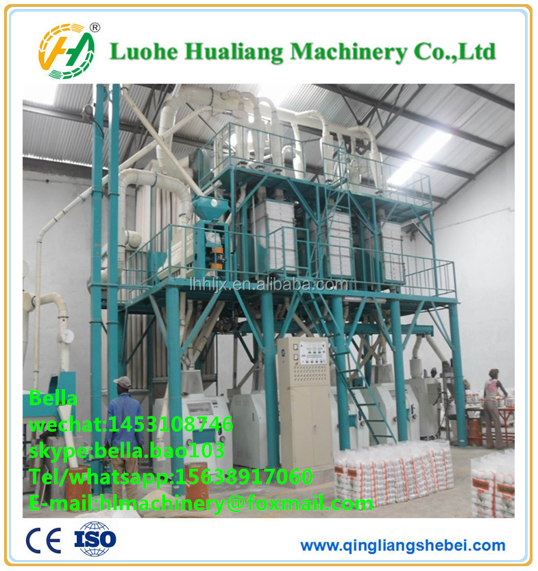 mini corn and rice flour mill machinery processing plant with good service
