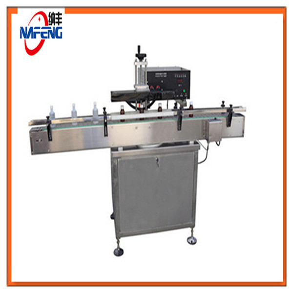 Shanghai manufacturing plant Aluminium foil sealing machine and cap sealers glass wine bottle
