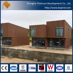 Beautiful cheap prefabricated duplex homes villa house made in China for sale