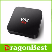 V88 RK3229 1G 8G quad core android ott tv box global tv receiver iptv receiver set top box quad core tv box 4k