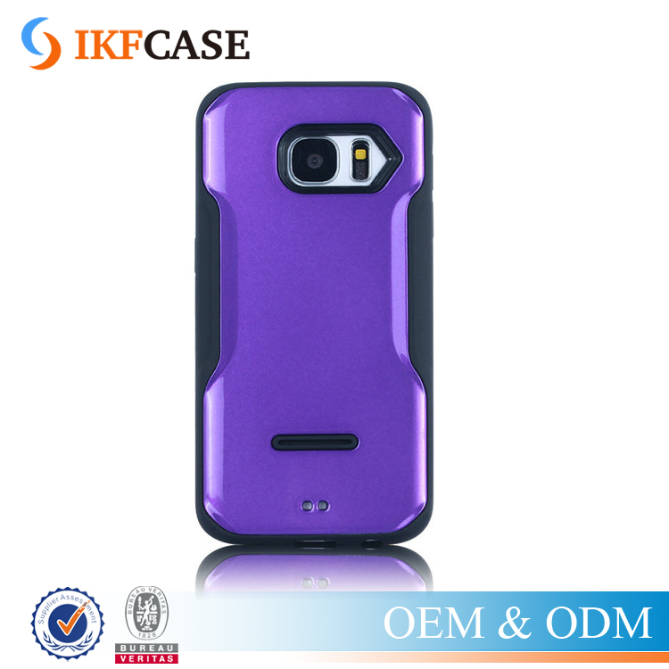 Luxury smooth series PC+TPU spray light oil plastic back cover case for Samsung Galaxy S7 S7edge G9300 G9350