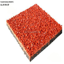 track and field breathable rubber material synthetic plastic running track material