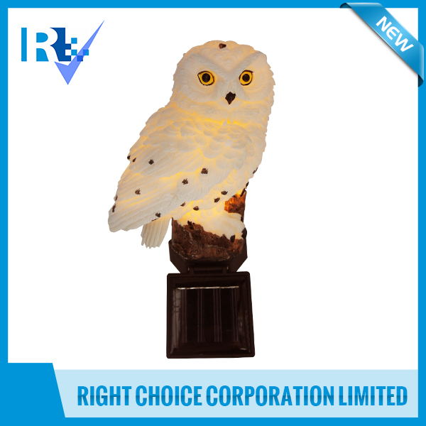 Garden Tools 14 x 8.5 x 45.5cm Wireless Solar Snowy Owl Garden Light with 2V / 35mA Solar Panel