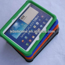 custom silicone rugged heavy duty case for Samsung Galaxy Tab 3 10.1 shockproof for kids FDA food grade silicone material