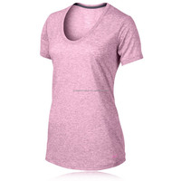 ( OEM Factory ) Wholesale Women Fitness Clothing Dry Fit T Shirts for Training Running Shirts