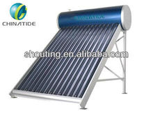 Compact Low Pressure 58*1800mm 3 Layer vacuum tube Solar Water Heater 100L 150L 200L 205L 300L
