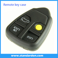 Volvo car key shell 3+1 button blank key and key case cover