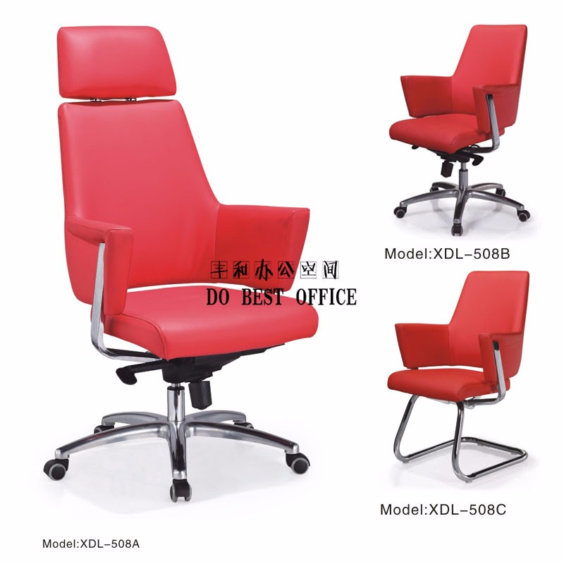 cheap metal frame office leather chair for heavy people