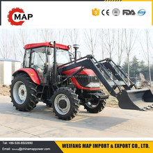 Four wheel drive 100HP Farming mini tractors with front end loader