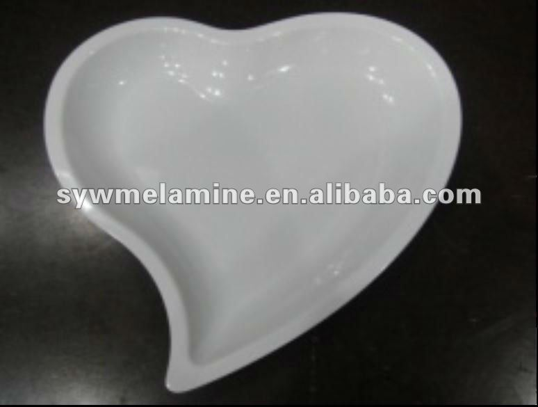 A5,Heart-shaped Melamine plates