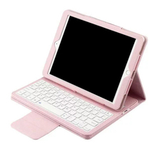 2017 Wholesale leather universal tablet case with bluetooth keyboard for iPad Air1 Air2 9.7 inch