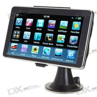 "6"" LCD Windows CE 6.0 Core 500MHz GPS Navigator w/FM Transmitter + Built-in 4GB USA Map"