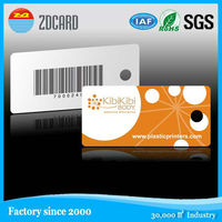 Full color printing loyalty plastic barcode key tag plastic cards