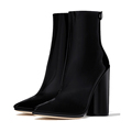 NEW DESIGN luxury patent leather high heel half boot