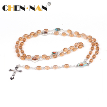 Pujiang Yiwu Factory Outlet Crystal rosary wholesale cross rosary Christian wedding gift