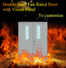 3 hour fire rated door finished stable safety stainless steel door