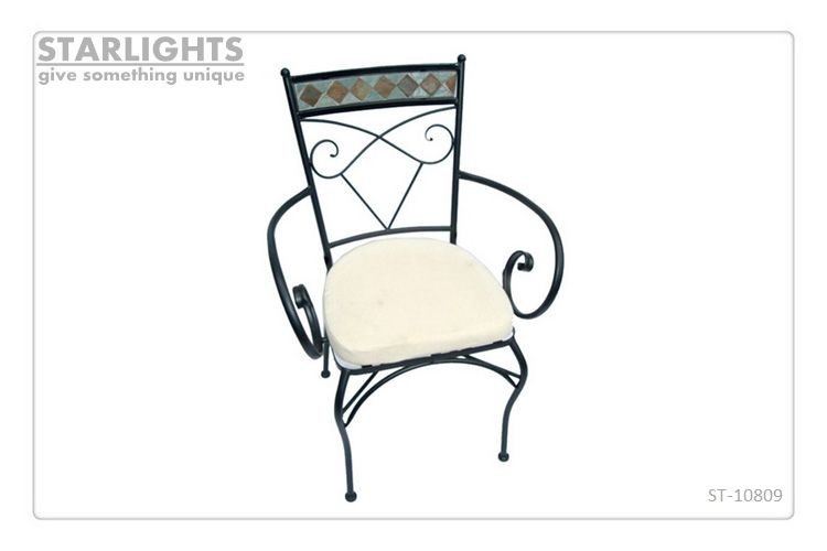 NEW design metal and wood garden chair park rest furniture