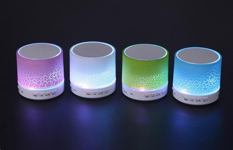 2016 new model colorful LED crackles design custom logo portable mini bluetooth wireless speaker