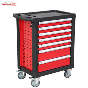 Professional OEM 7 drawers tool box roller cabinet with hand tool set