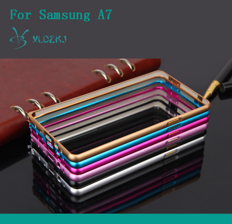 Metal Frame Cell Phone Cover Case For Samsung A7
