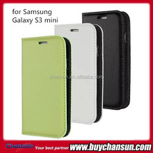Genuine leather case for samsung galaxy s3 mini i8190