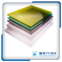 baoguang 4MM Lexan twin wall policarbonate panel hollow polycarbonate sheet price