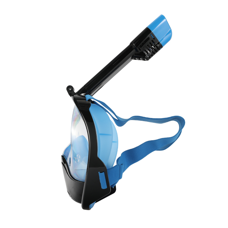 2017 Top selling full face mask diving snorkel set with 290mm breathing tube camera mount dismountable