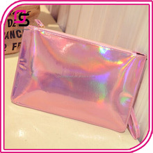 customize wholesale women fashion stylish holographic laser envelope clutch bag
