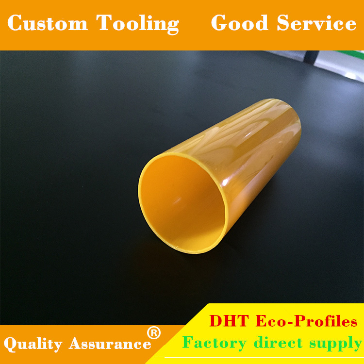Diameter and multiple colors custom PVC tube plastic profile for building project