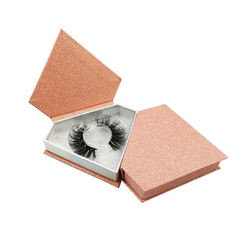 Triangle shape eyelash box with custom logo private label  false eye lashes mink lashes 3d mink eyelashes vendor