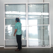 ultra large double hung with grill designs aluminium framed vertical sliding window double hung for home