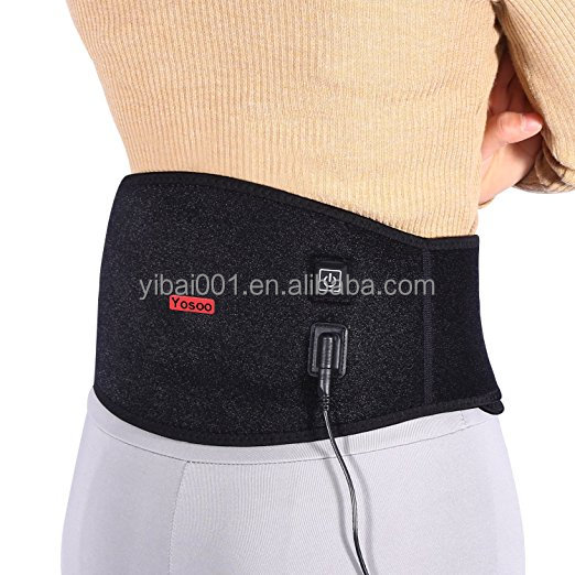 Waist Heating Pad Belt Lower Back Heat Wrap Hot and Cold Therapy with 3 Heating Grade Sets for Waist Pain Relief Muscle Strain