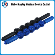 Multicolored Massage Fascia Roller Stick with Stinging Ball
