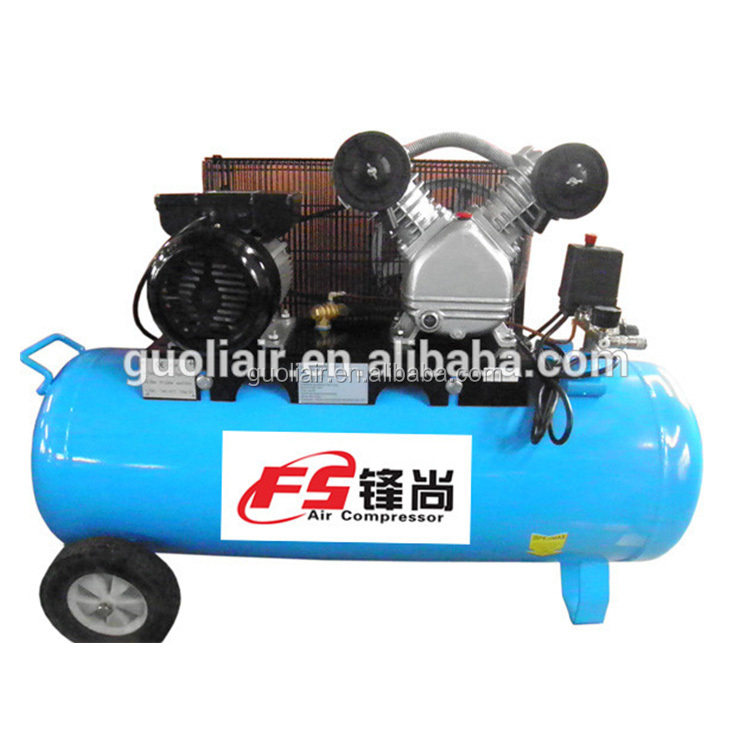 2065 dafeng type 90L belt driven piston motor air compressor