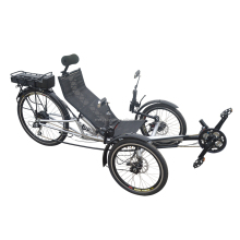 Wholesale Fantastic Experience 2 Front Wheel Reverse Style Electric Recumbent Tricycle