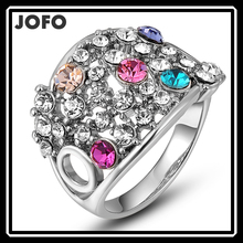latest gold finger ring design best selling products Platinum Reticular Inlaid diamond ring jewelry