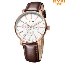 EYKI EET1046L 2017 New Male Sports Luxury Brand Genuine Leather Watches Business And Casual Quartz Wristwatch