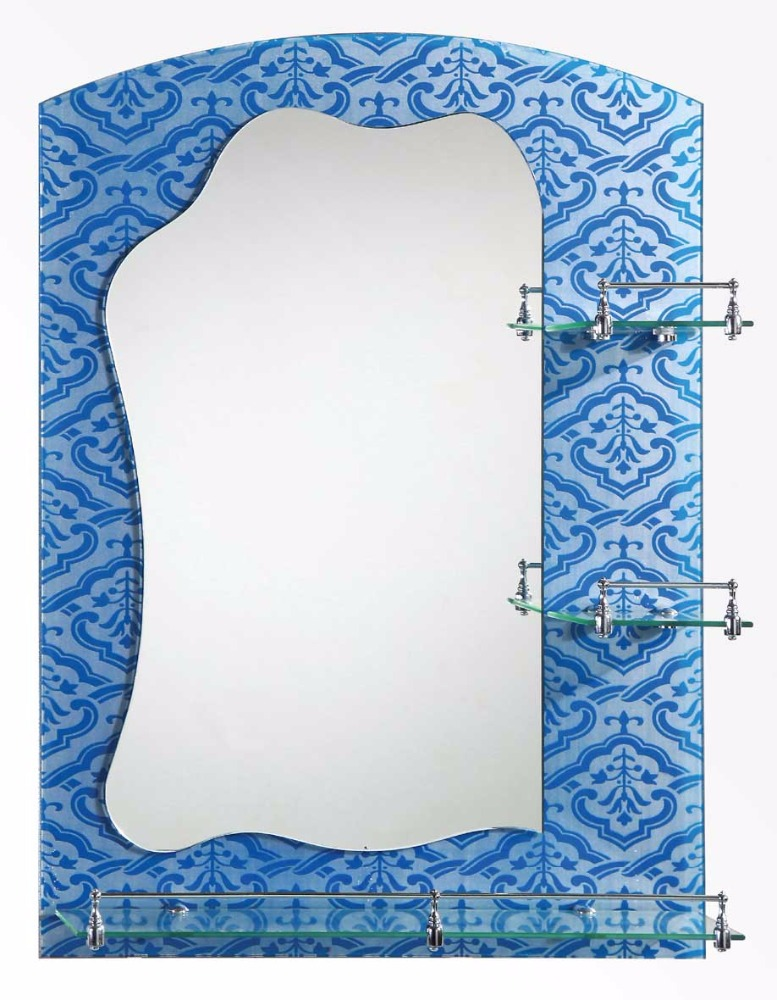 Bathroom mirror wholesale with glass shelf