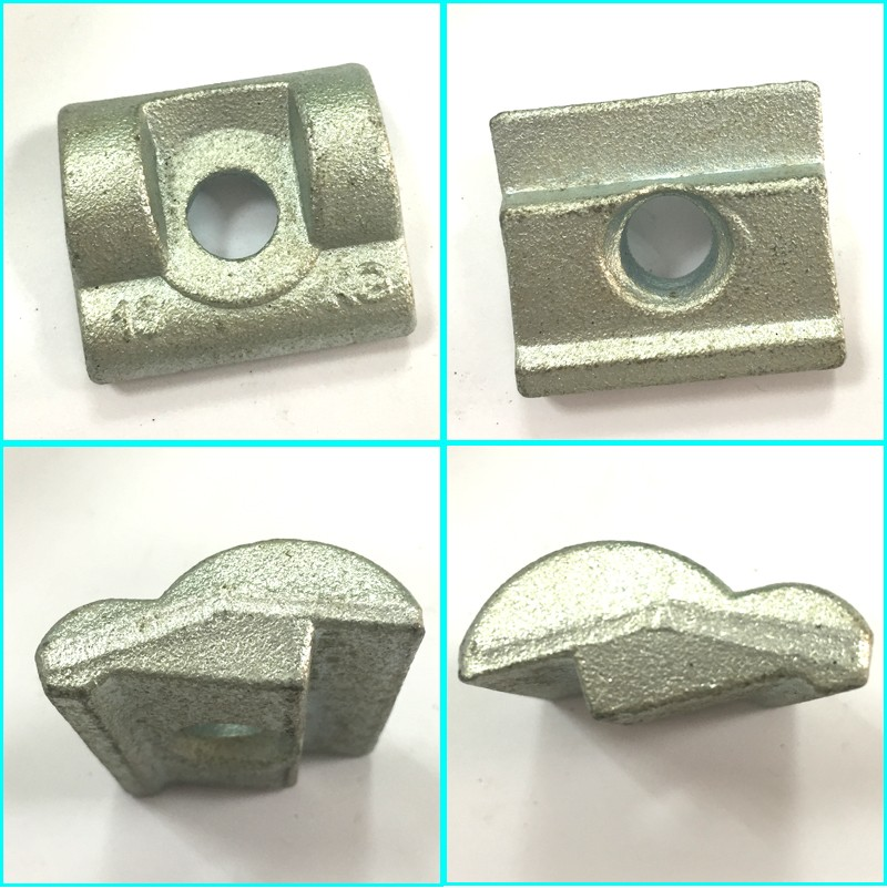 Custom Zinc plated Railway Clamp forge parts rail clamp