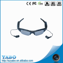 2016 new arrival 720p 30fps usb2.0 Bluetooth MP3 digital video sunglasses 3MP support TF/MicroSD