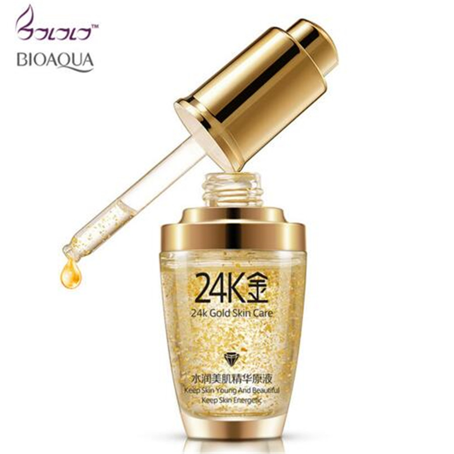 BIOAQUA 24K Gold Face <strong>Cream</strong> Whitening Moisturizing 24 K Gold Day <strong>Creams</strong> & Moisturizers 24K Gold Essence Serum New Face Skin Care