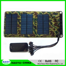 solar panel kits 5W flexible fordable solar charger with many connector mobile phones, MP3/MP4, digital cameras, GPS, PSP, etc.